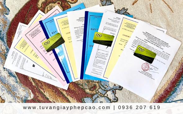 Những giấy phép cho cơ sở sản xuất kinh doanh cà phê