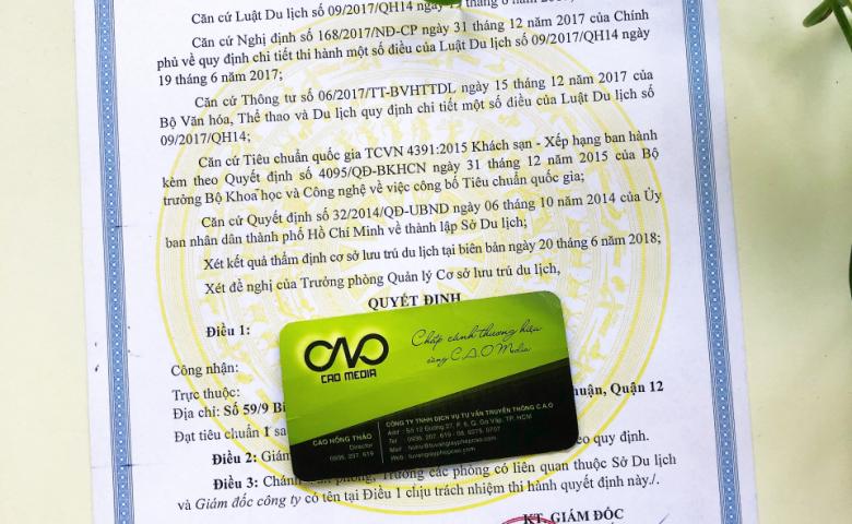 giấy phép khách sạn - nhà nghỉ