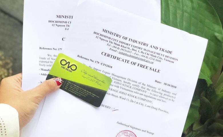 giấy phép lưu hành tự do (cfs)